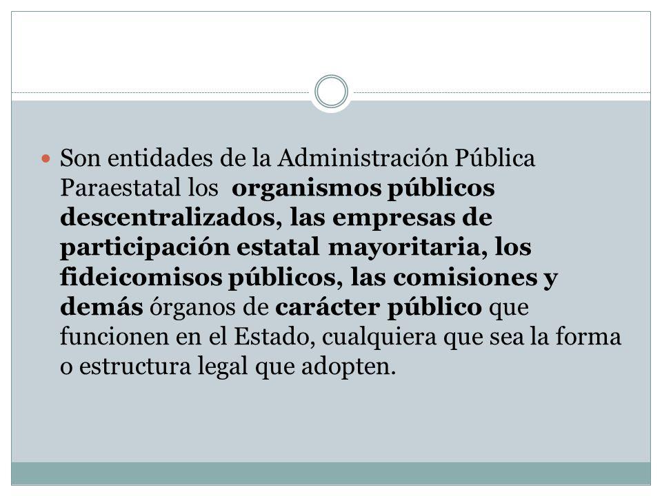 Las entidades a que se refiere son órganos auxiliares de la Administración Pública del Estado, las cuales se integrarán en sectores establecidos por el Gobernador del Estado.