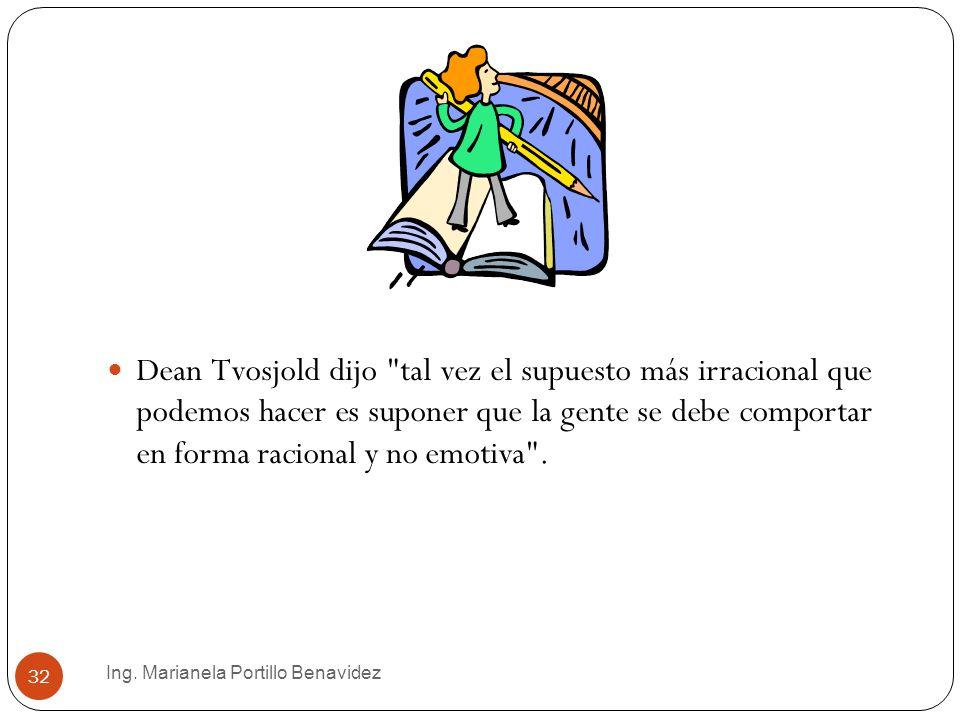 Ing. Marianela Portillo Benavidez 32 Dean Tvosjold dijo