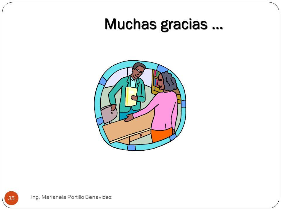 Ing. Marianela Portillo Benavidez 35 Muchas gracias …