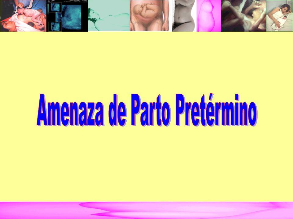 AMENAZA DE PARTO PRETÉRMINO DEFINICIÓN.
