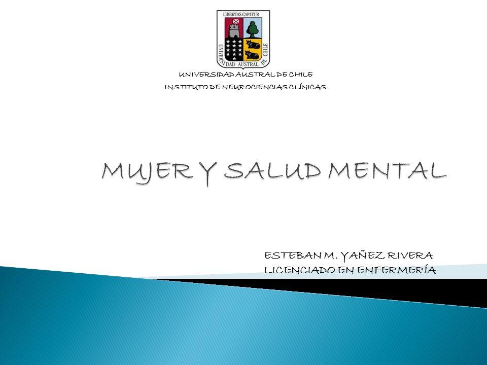 UNIVERSIDAD AUSTRAL DE CHILE INSTITUTO DE NEUROCIENCIAS CLÍNICAS ESTEBAN M. YAÑEZ RIVERA LICENCIADO EN ENFERMERÍA