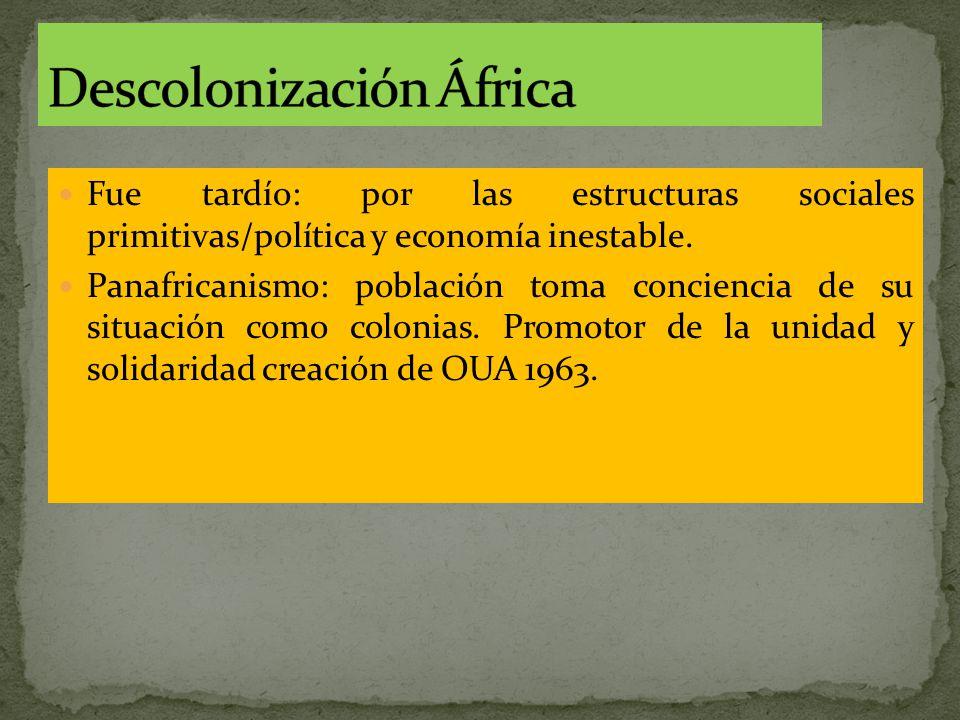 Fue tardío: por las estructuras sociales primitivas/política y economía inestable.