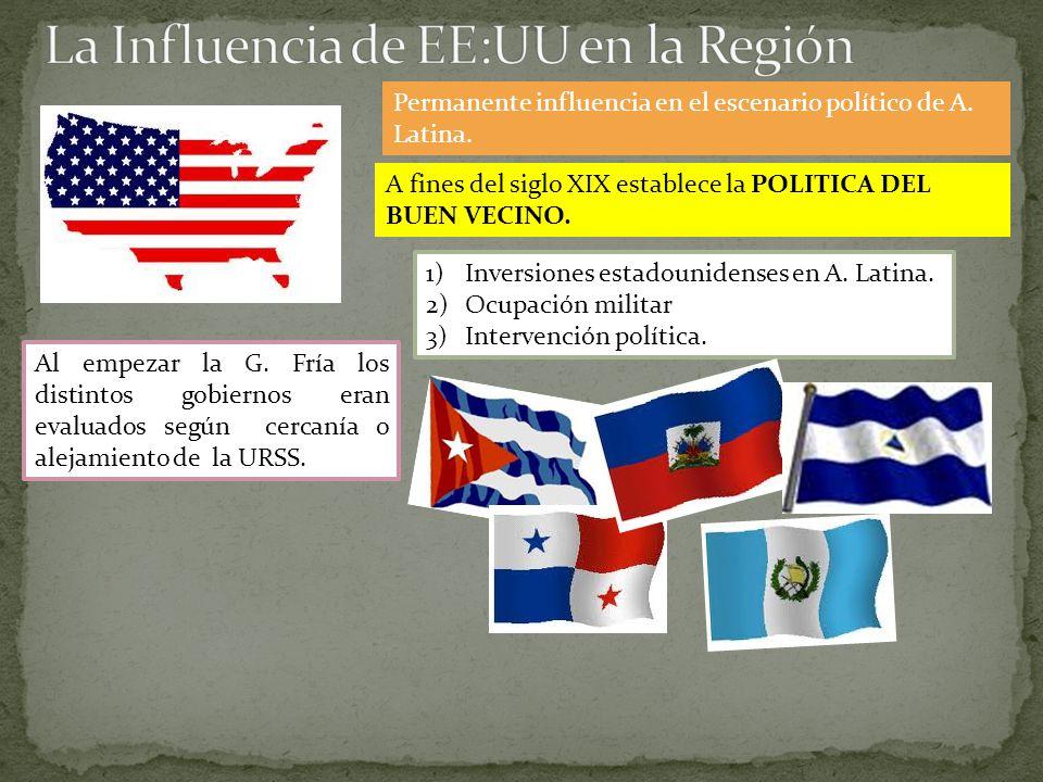 Permanente influencia en el escenario político de A.