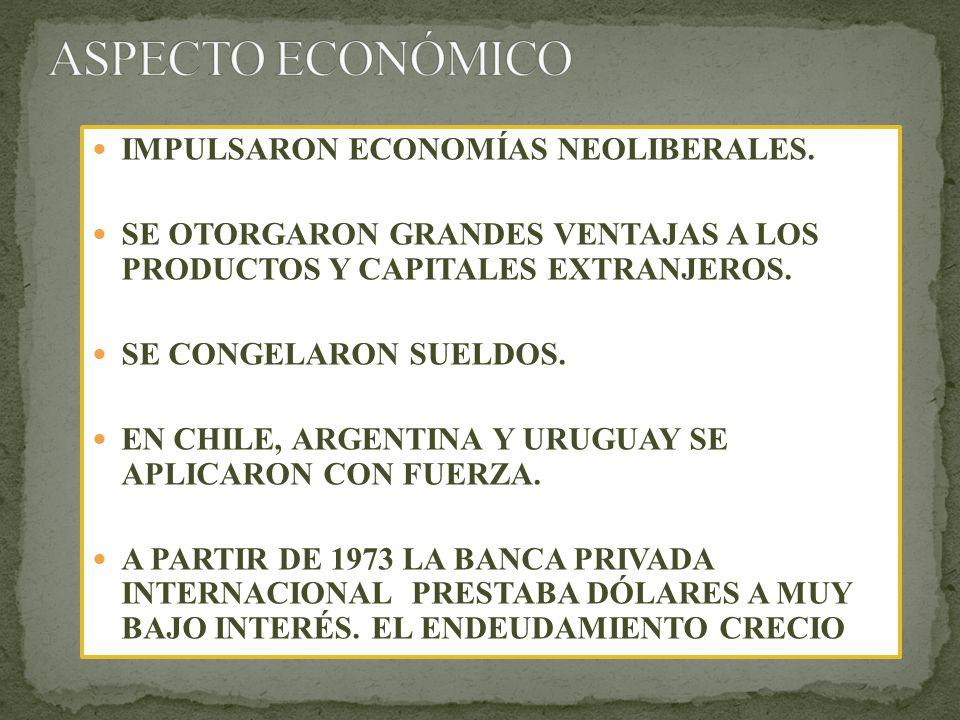 IMPULSARON ECONOMÍAS NEOLIBERALES.