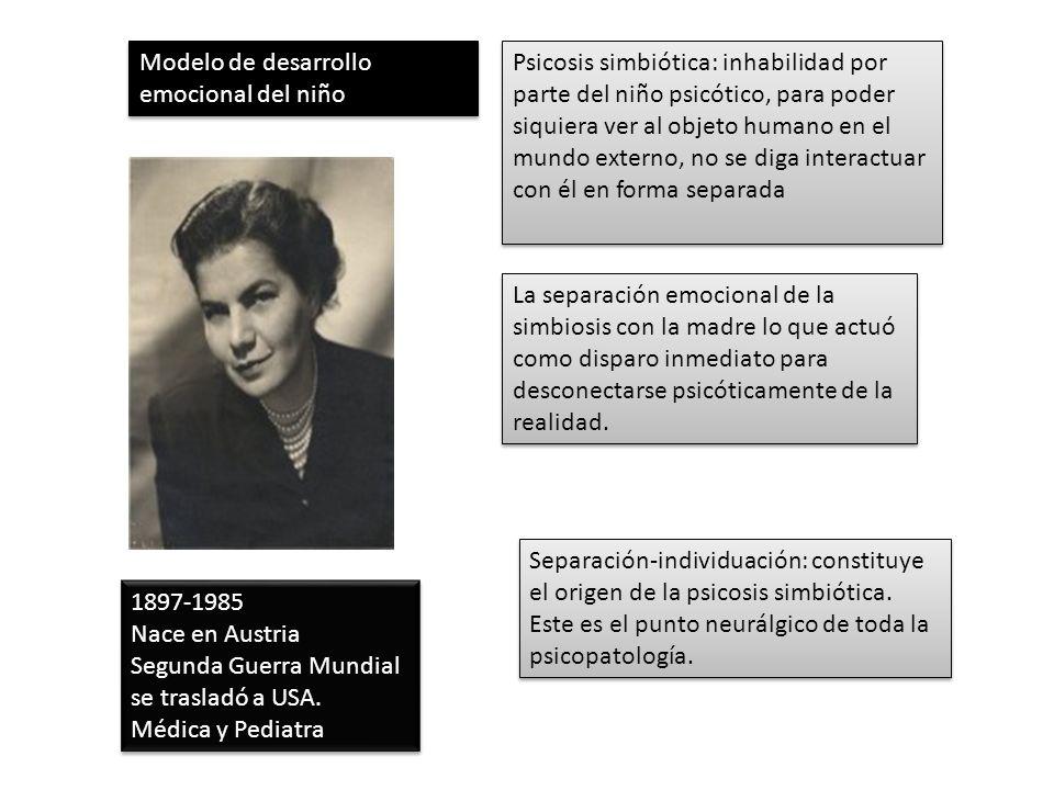1897-1985 Nace en Austria Segunda Guerra Mundial se trasladó a USA. Médica y Pediatra 1897-1985 Nace en Austria Segunda Guerra Mundial se trasladó a U