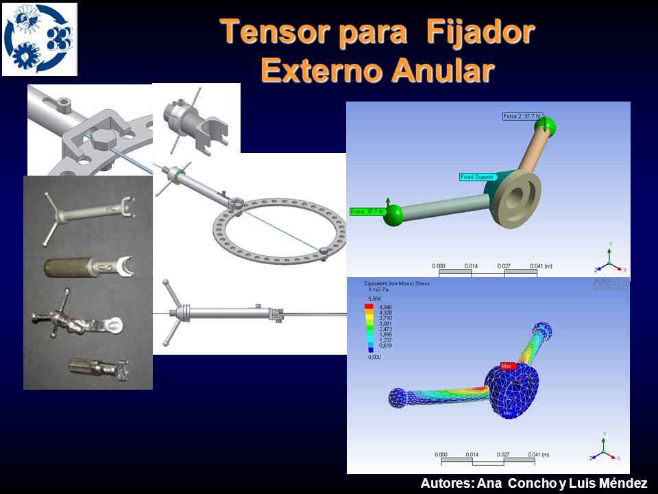Tensor para Fijador Externo Anular Externo Anular Autores: Ana Concho y Luis Méndez