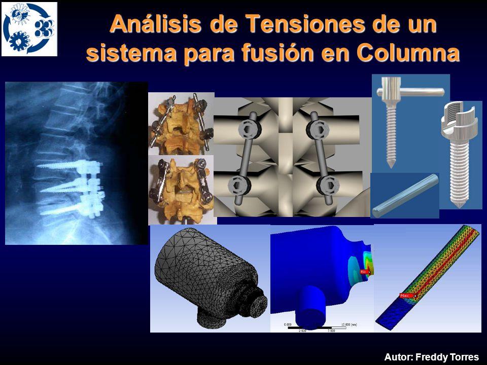 Análisis de Tensiones de un sistema para fusión en Columna Autor: Freddy Torres