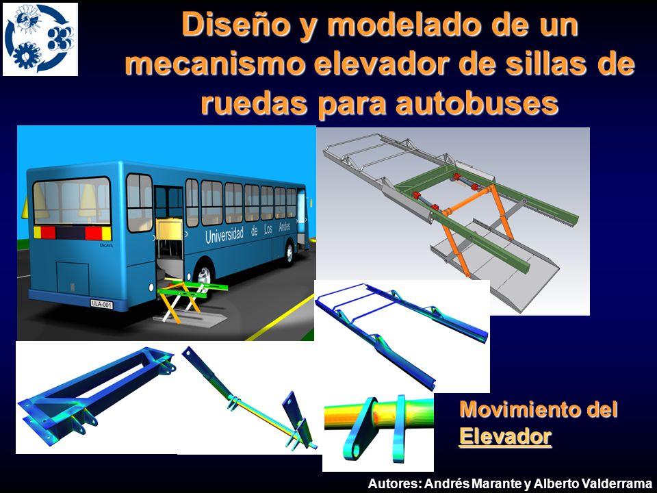 Diseño y modelado de un mecanismo elevador de sillas de ruedas para autobuses Movimiento del Elevador Movimiento del Elevador Autores: Andrés Marante