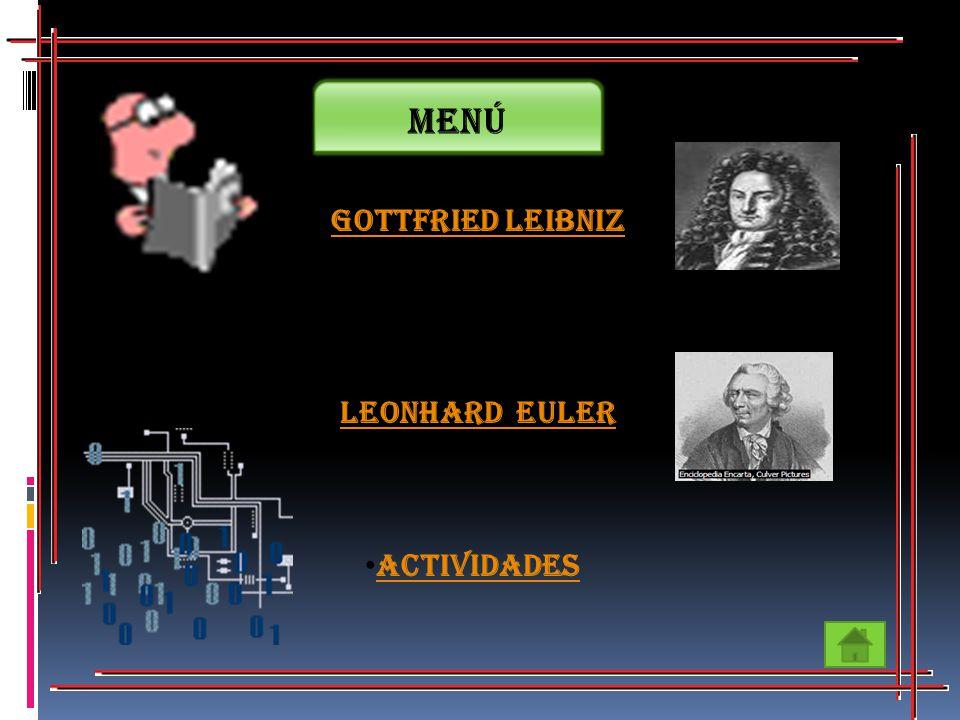 Gottfried Leibniz Leonhard Euler Leonhard Euler Actividades Menú