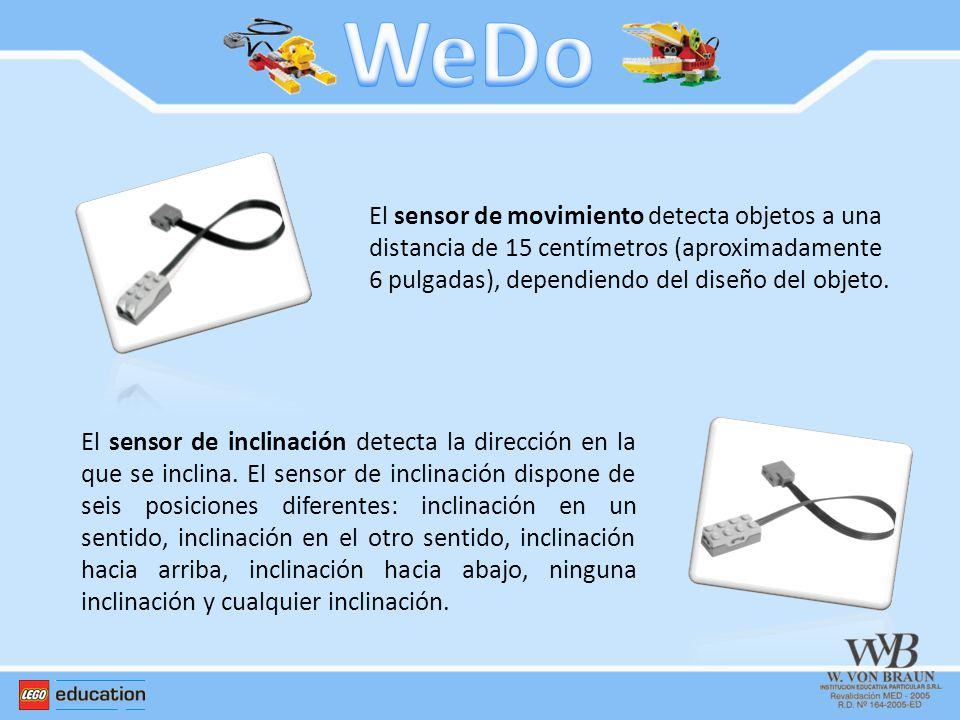 El sensor de movimiento detecta objetos a una distancia de 15 centímetros (aproximadamente 6 pulgadas), dependiendo del diseño del objeto. El sensor d