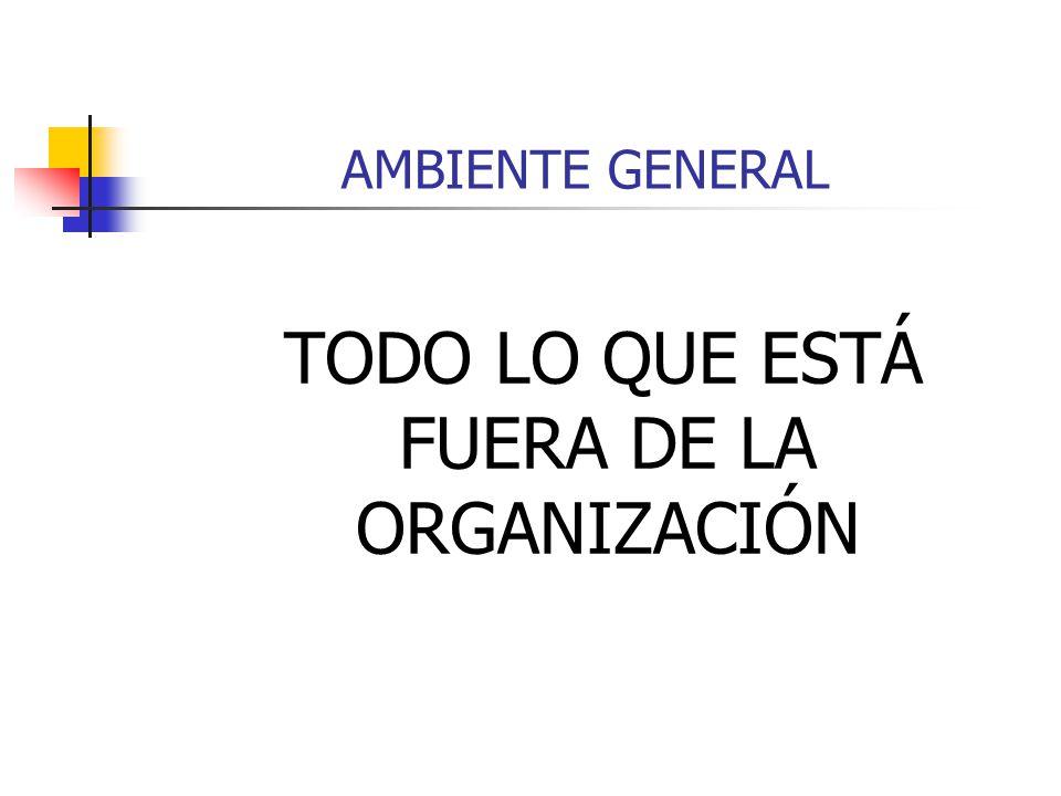 AMBIENTE GENERAL TODO LO QUE ESTÁ FUERA DE LA ORGANIZACIÓN