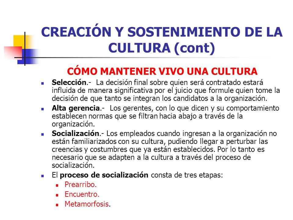 EL PROCESO DE SOCIALIZACIÓN: ETAPAS La etapa de prearribo.- Reconoce explícitamente que cada individuo llega con un conjunto de valores, actitudes expectativas.