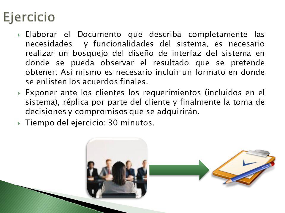 Elaborar el Documento que describa completamente las necesidades y funcionalidades del sistema, es necesario realizar un bosquejo del diseño de interf