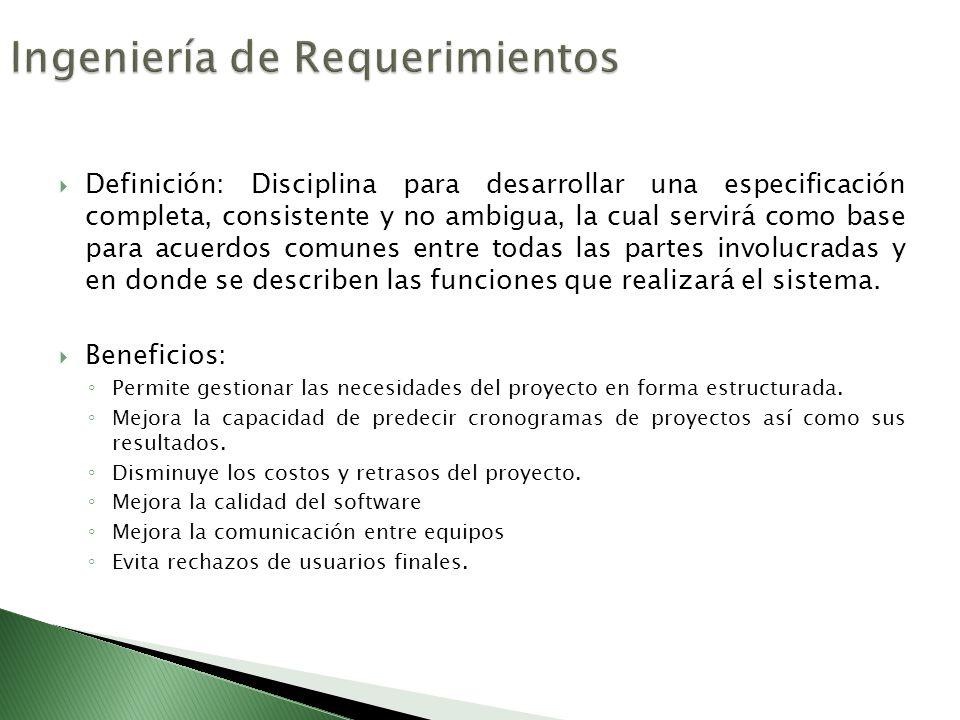 Definir 10 requerimientos necesarios para el desarrollo del problema planteado.