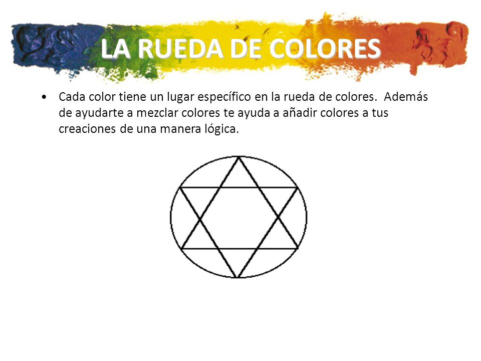 LA RUEDA DE COLORES Cada color tiene un lugar específico en la rueda de colores.