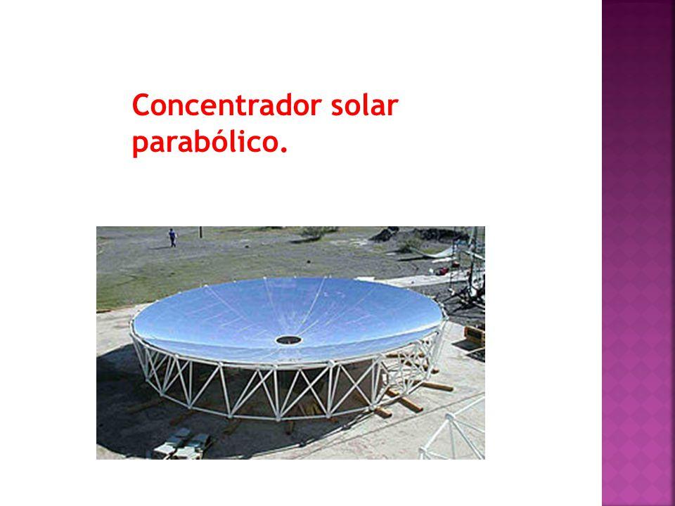 Concentrador solar parabólico.