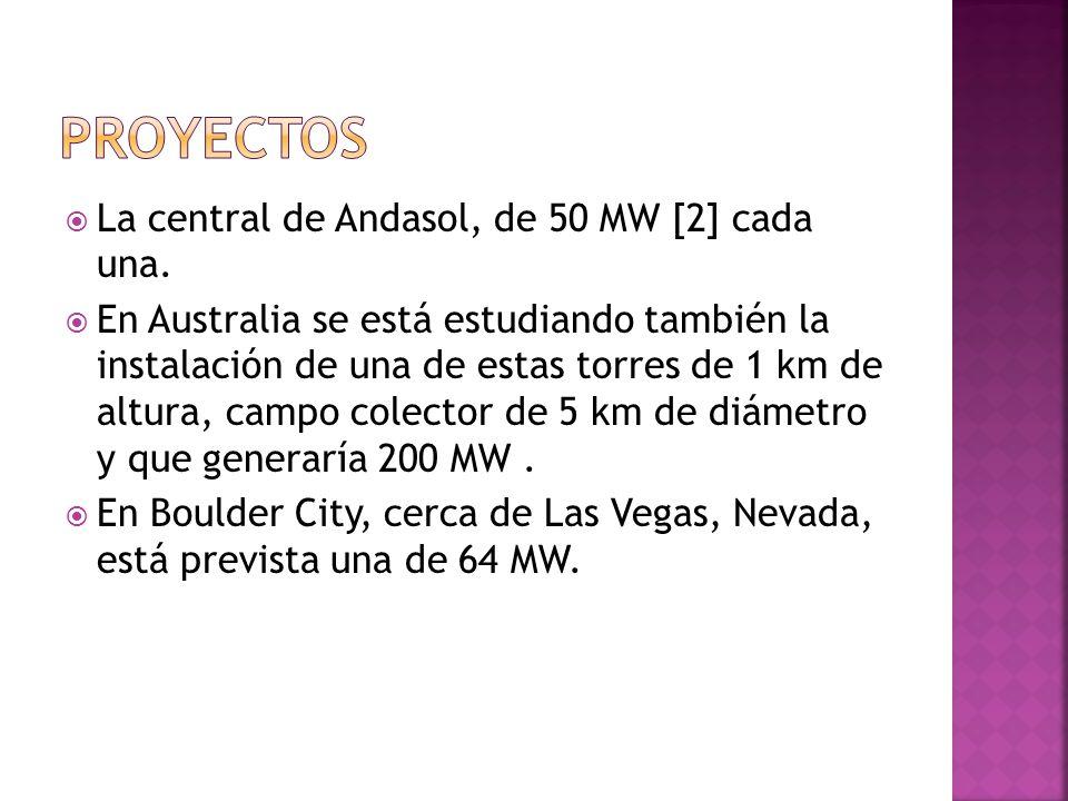 La central de Andasol, de 50 MW [2] cada una.