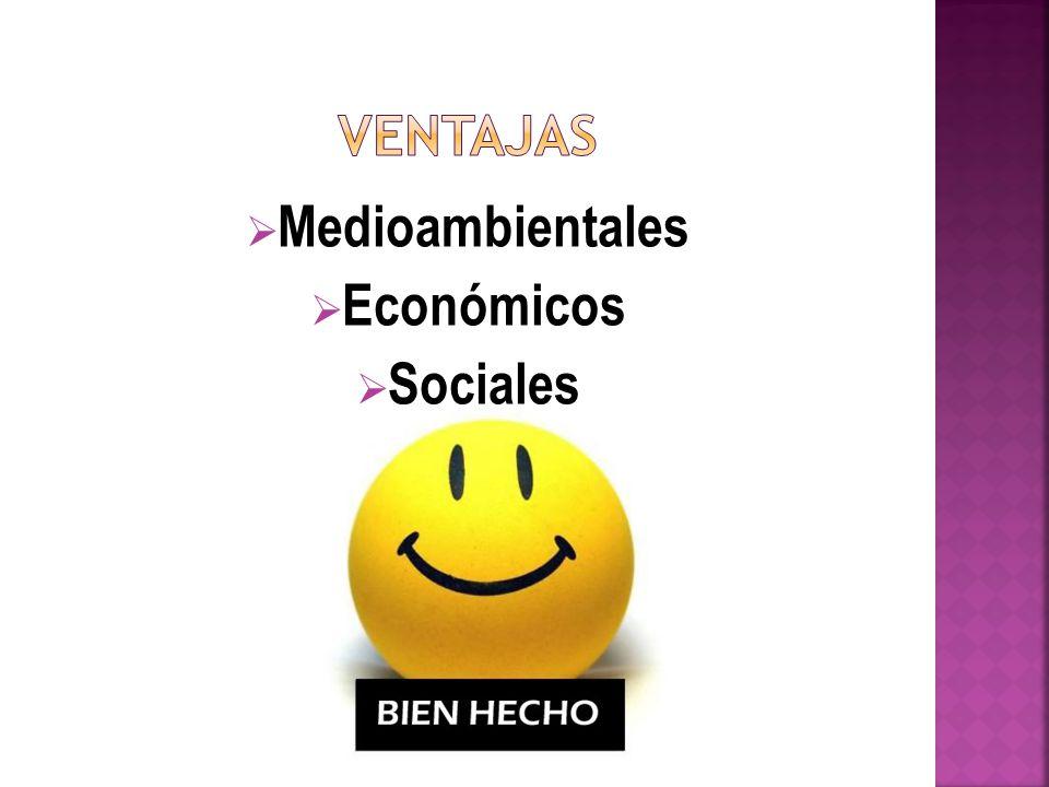 Medioambientales Económicos Sociales