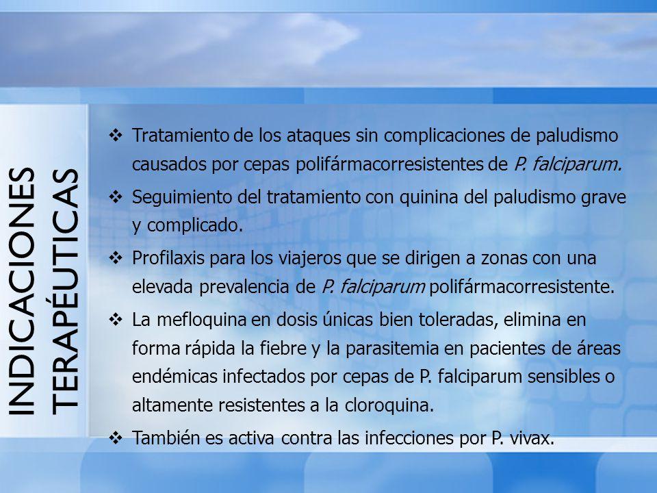 Tratamiento de los ataques sin complicaciones de paludismo causados por cepas polifármacorresistentes de P. falciparum. Seguimiento del tratamiento co