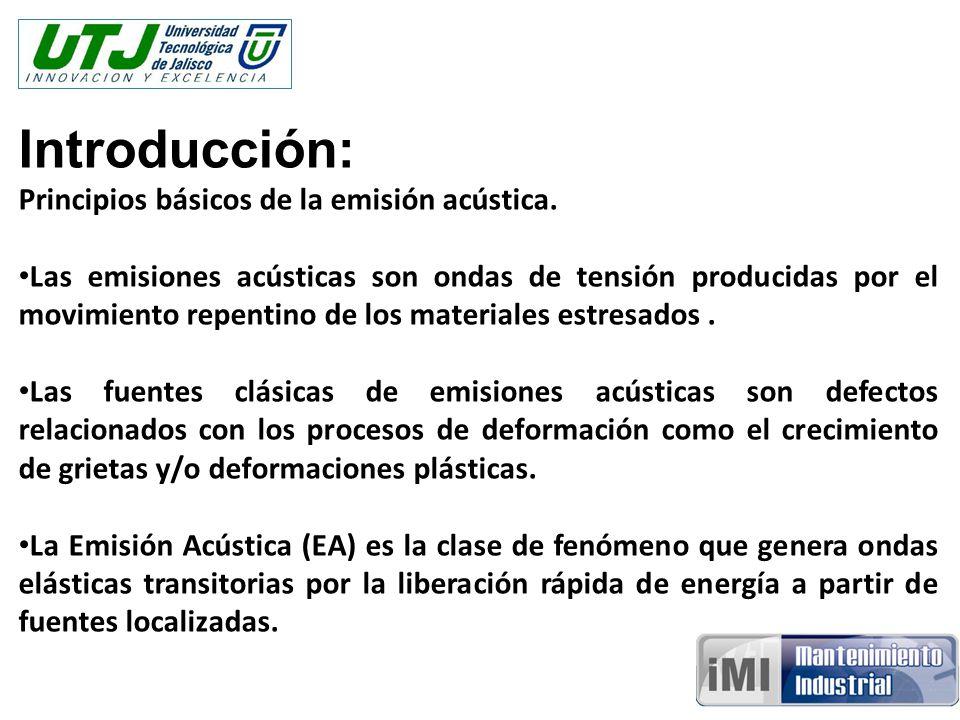 Introducción: Principios básicos de la emisión acústica. Las emisiones acústicas son ondas de tensión producidas por el movimiento repentino de los ma