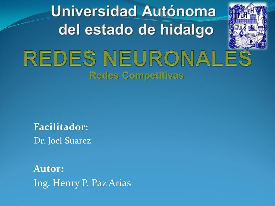 Redes Competitivas Una red neuronal competitiva consiste en una capa de neuronas en la que todas reciben la misma entrada.