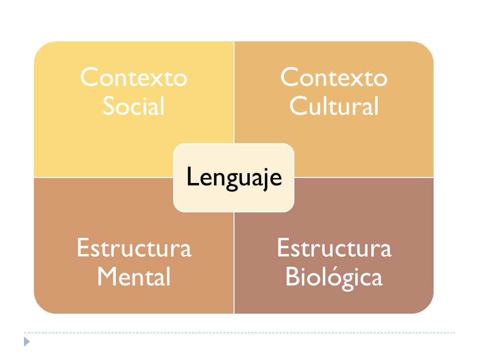 Contexto Social Contexto Cultural Estructura Mental Estructura Biológica Lenguaje