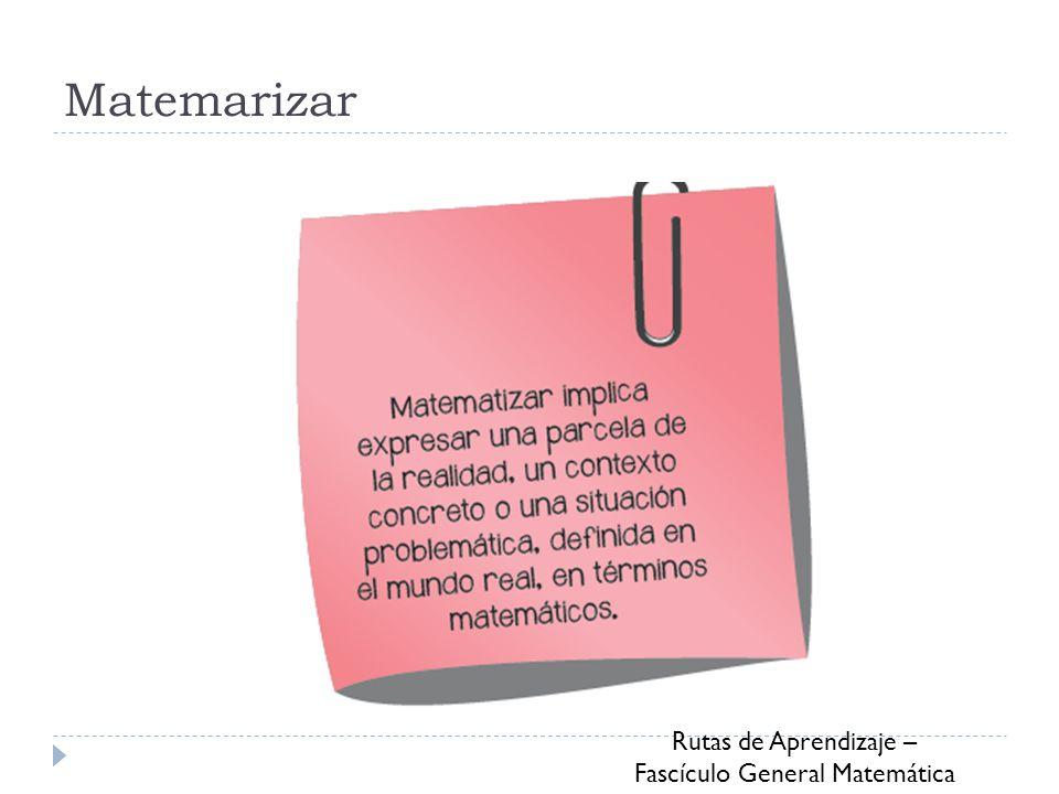 Matemarizar Rutas de Aprendizaje – Fascículo General Matemática