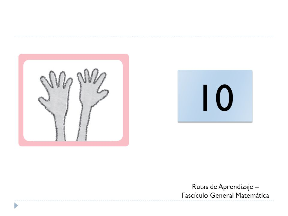 10 Rutas de Aprendizaje – Fascículo General Matemática