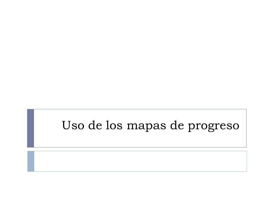 Uso de los mapas de progreso