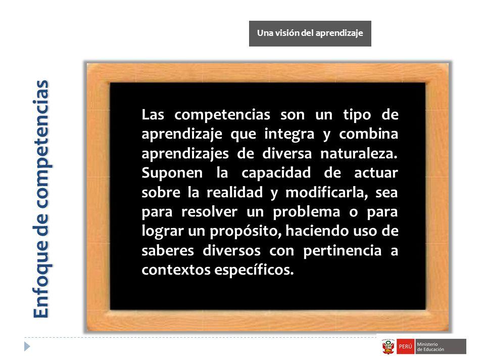 Las competencias son un tipo de aprendizaje que integra y combina aprendizajes de diversa naturaleza. Suponen la capacidad de actuar sobre la realidad