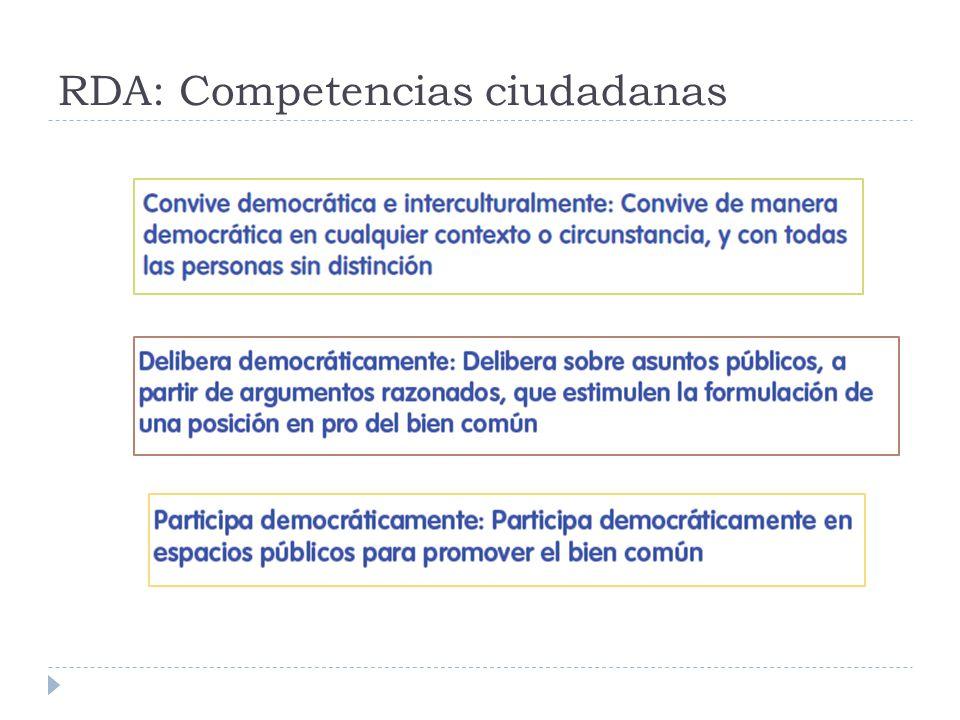 RDA: Competencias ciudadanas
