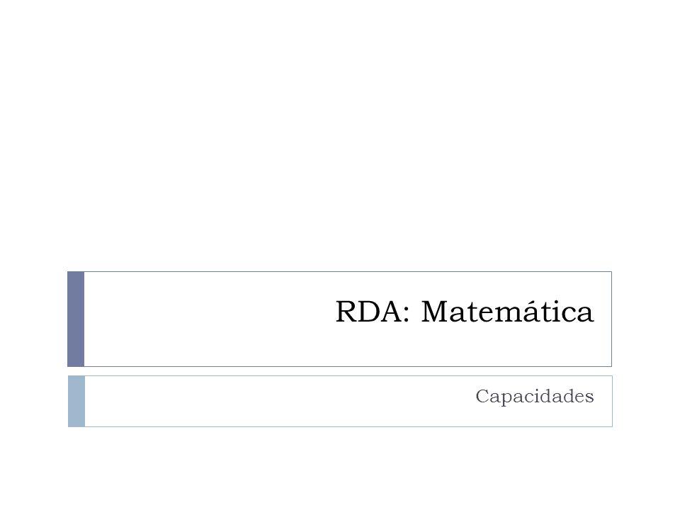 RDA: Matemática Capacidades