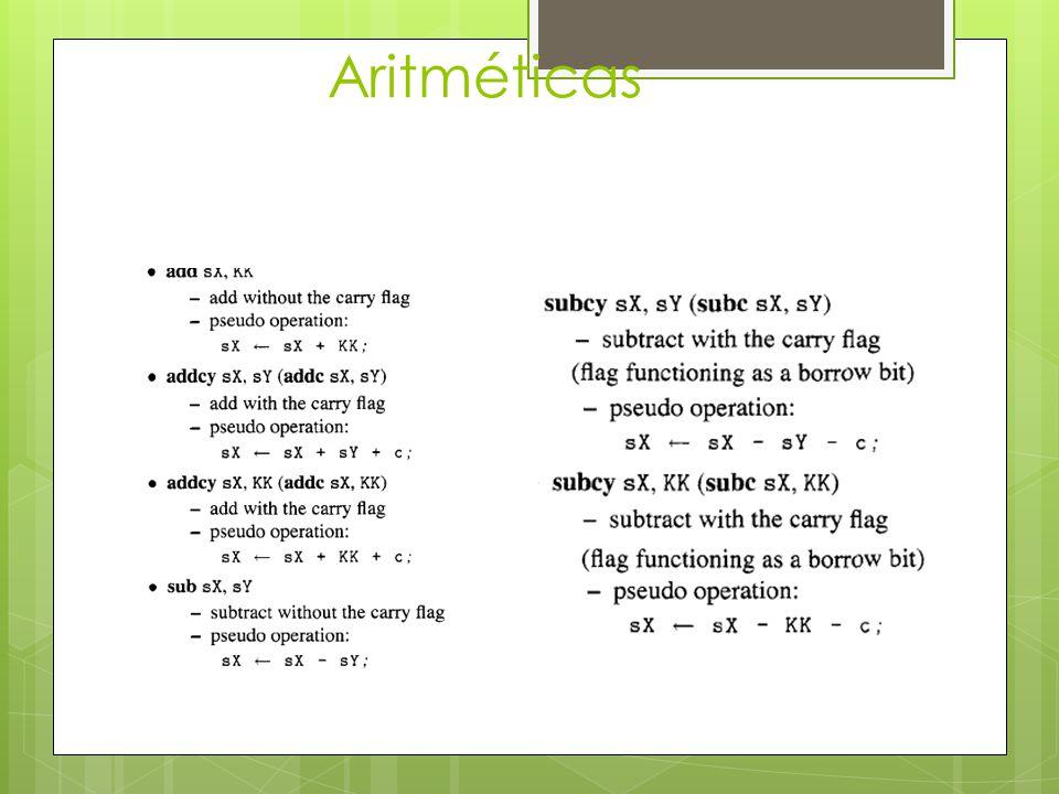 Aritméticas