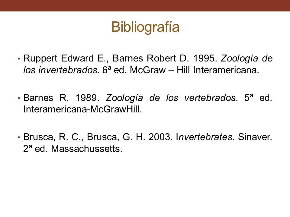 Bibliografía Ruppert Edward E., Barnes Robert D.1995.