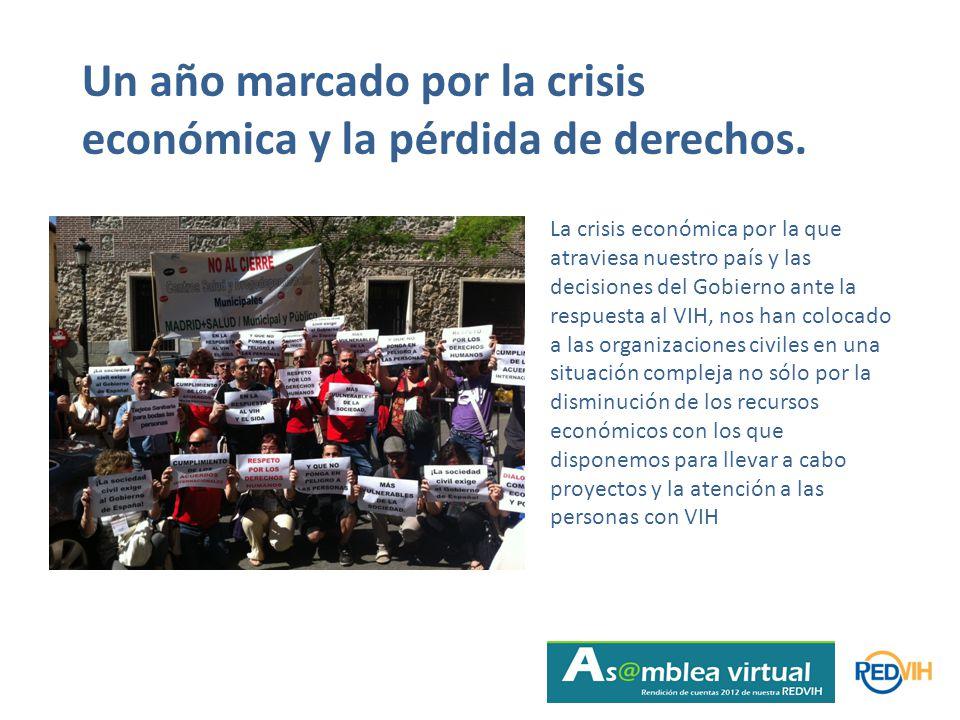 Un año marcado por la crisis económica y la pérdida de derechos.