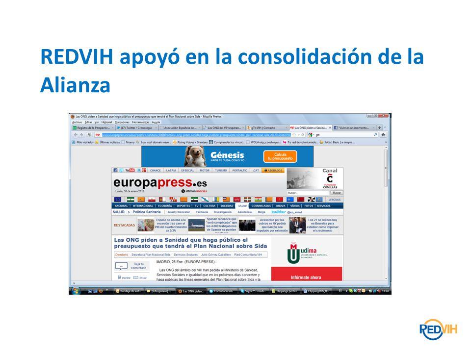 REDVIH apoyó en la consolidación de la Alianza