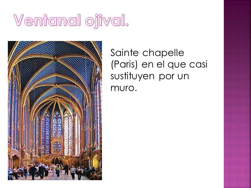 Sainte chapelle (Paris) en el que casi sustituyen por un muro.