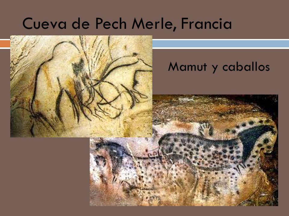 Cueva de Pech Merle, Francia Mamut y caballos