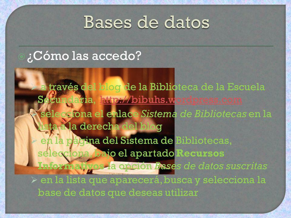 ¿Qué son? conjunto de datos almacenados en formato electrónico permiten el acceso a los datos de forma rápida y estructurada algunas incluyen el texto