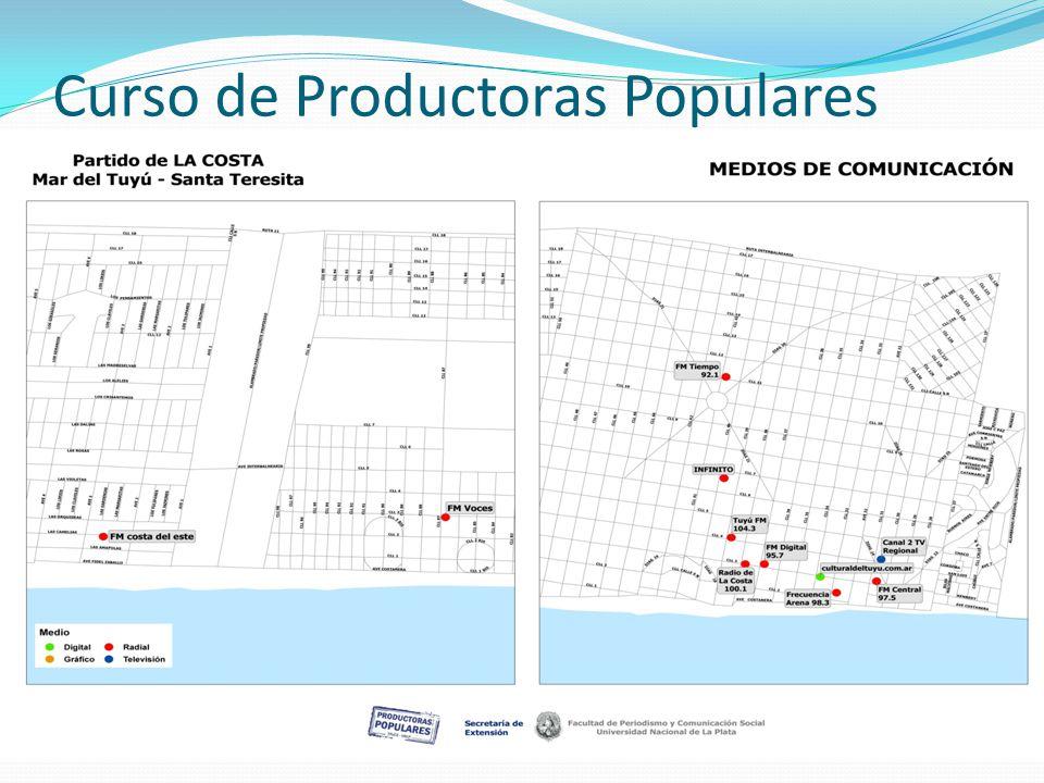 Curso de Productoras Populares Mapeo de Medios de Comunicación de Santa Teresita