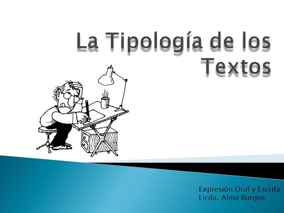 Expresión Oral y Escrita Licda. Alma Burgos