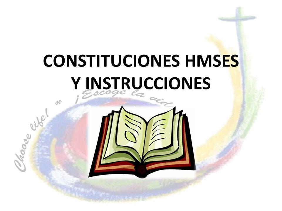 CONSTITUCIONES HMSES Y INSTRUCCIONES