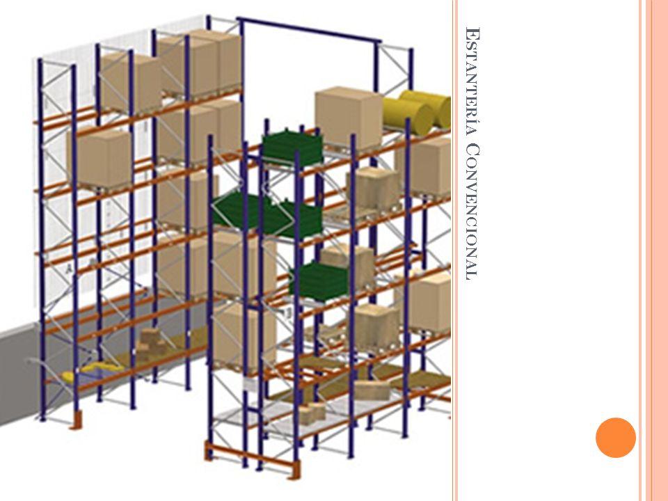 Ocuparía 230 estantes si tuviera un alto aproximado 4 estantes, con 3 palets en cada uno (de alto), un ancho de 15 metros tambien y abierta por ambos lados.