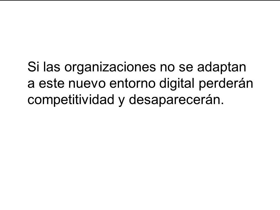 34 Si las organizaciones no se adaptan a este nuevo entorno digital perderán competitividad y desaparecerán.