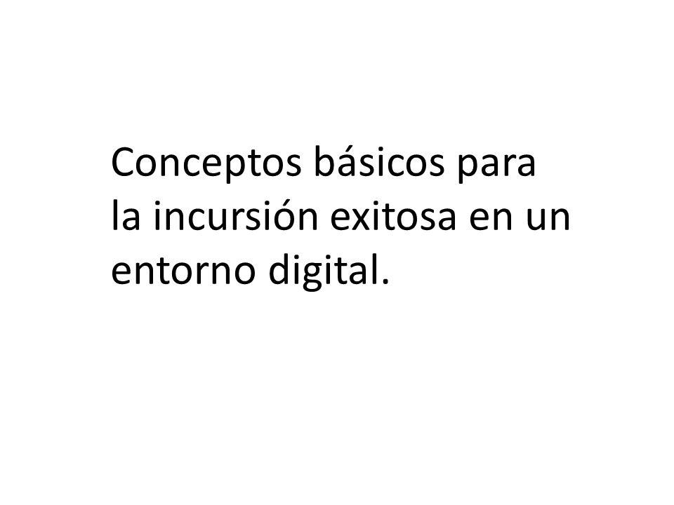 Conceptos básicos para la incursión exitosa en un entorno digital.