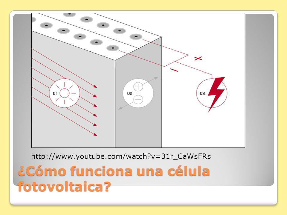 ¿Cómo funciona una célula fotovoltaica? http://www.youtube.com/watch?v=31r_CaWsFRs