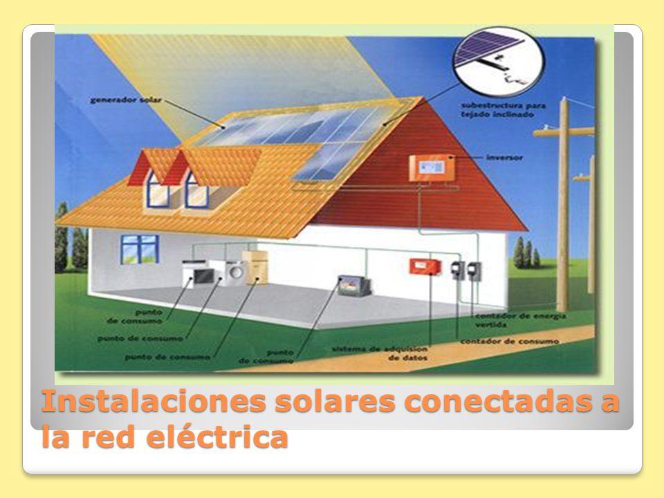 Instalaciones solares conectadas a la red eléctrica