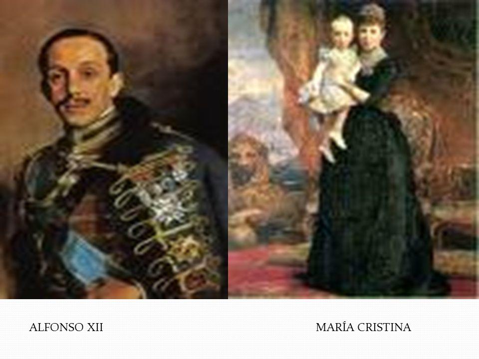ALFONSO XII MARÍA CRISTINA