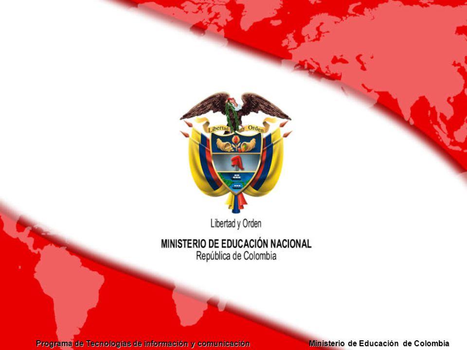Programa de Tecnologías de información y comunicación Ministerio de Educación de Colombia Rutas de Desarrollo Profesional Docente MEN