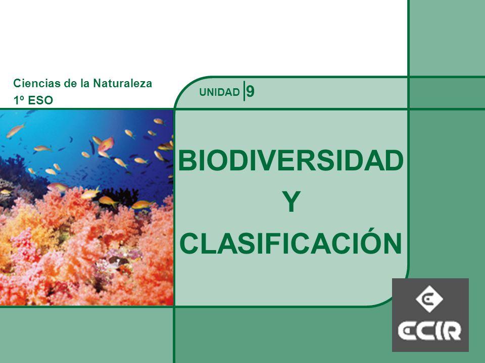 Ciencias de la Naturaleza 1º ESO BIODIVERSIDAD Y CLASIFICACIÓN UNIDAD 9